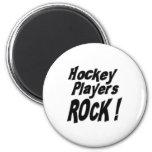 ¡Roca de los jugadores de hockey! Imán