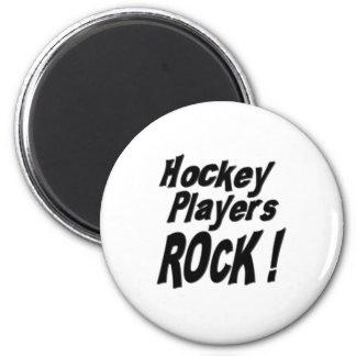 ¡Roca de los jugadores de hockey Imán