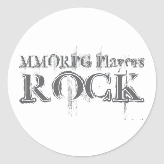 Roca de los jugadores de MMORPG Etiqueta Redonda