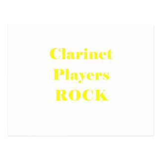 Roca de los jugadores del Clarinet Postales