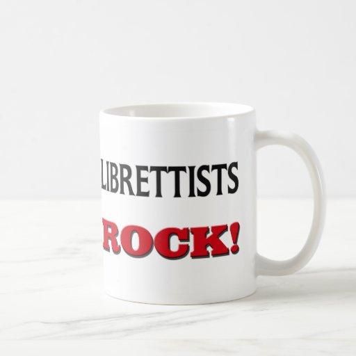 Roca de los libretistas taza de café
