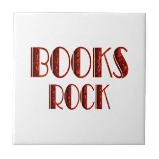Roca de los libros azulejo cuadrado pequeño