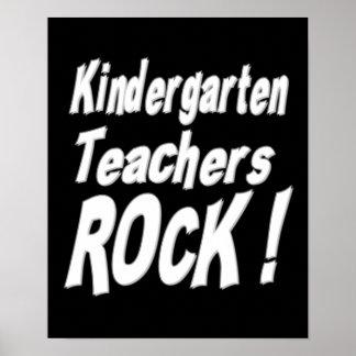 ¡Roca de los maestros de jardín de infancia! Impre Póster