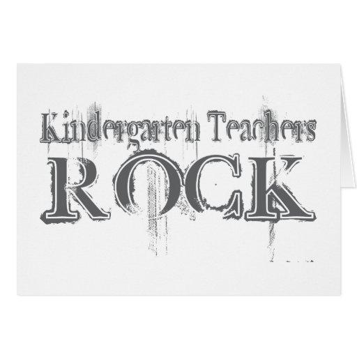 Roca de los maestros de jardín de infancia tarjeta de felicitación