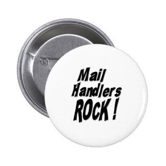 ¡Roca de los manipuladores del correo! Botón Pins