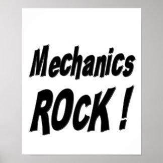 ¡Roca de los mecánicos! Impresión del poster