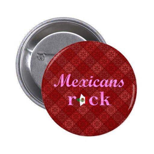 Roca de los mexicanos - rosa lindo pins