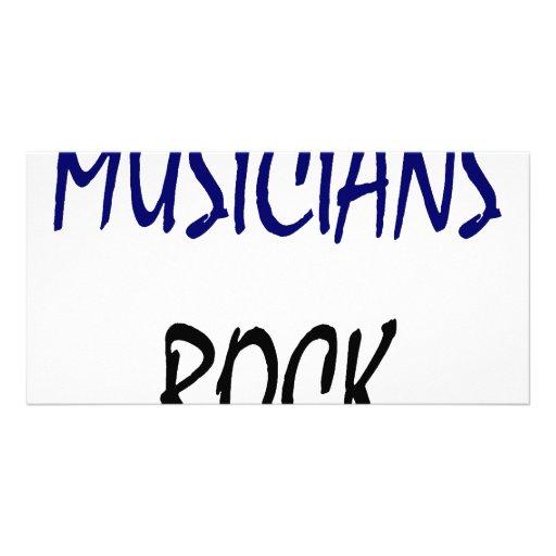Roca de los músicos tarjeta fotográfica