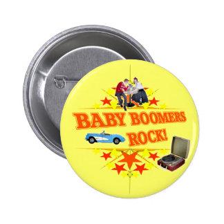 Roca de los nacidos en el baby boomes pins