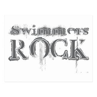 Roca de los nadadores tarjetas postales