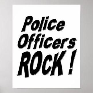 ¡Roca de los oficiales de policía Impresión del p