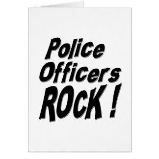 ¡Roca de los oficiales de policía! Tarjeta de feli