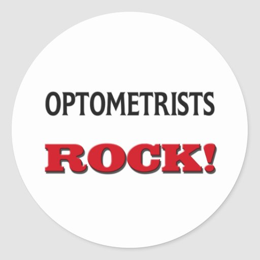 Roca de los optometristas pegatina redonda