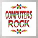 Roca de los ordenadores impresiones