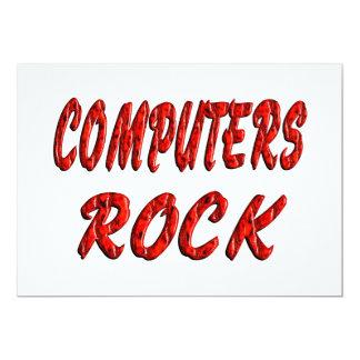 """ROCA de los ordenadores Invitación 5"""" X 7"""""""