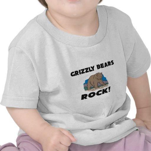 Roca de los osos grizzly camiseta