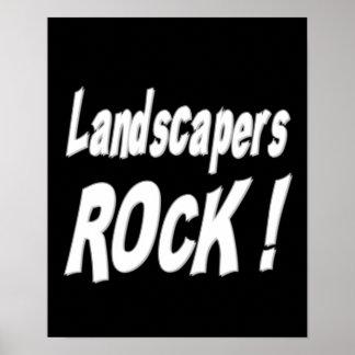 ¡Roca de los paisajistas Impresión del poster
