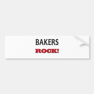 Roca de los panaderos etiqueta de parachoque