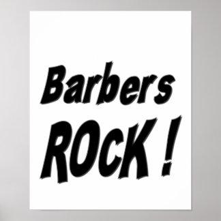 ¡Roca de los peluqueros Impresión del poster