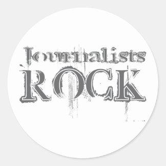 Roca de los periodistas pegatinas redondas