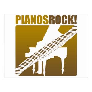 ¡Roca de los pianos! Tarjeta Postal