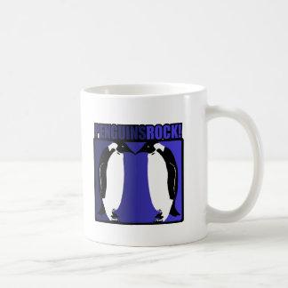 ¡Roca de los pingüinos Taza De Café