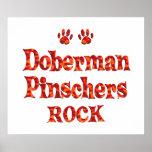 Roca de los Pinschers del Doberman Impresiones
