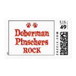 Roca de los Pinschers del Doberman Sello