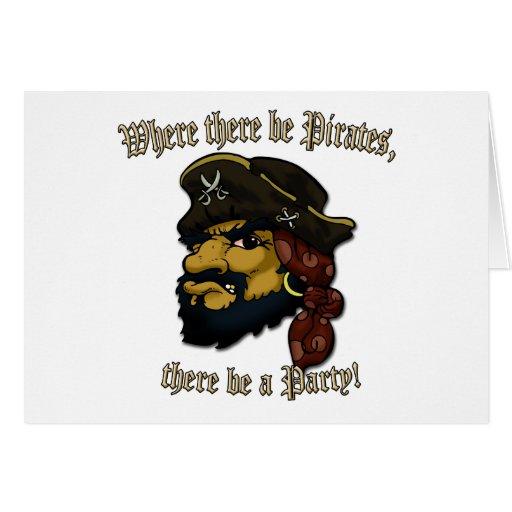 ¡Roca de los piratas! Tarjeta De Felicitación
