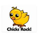 ¡Roca de los polluelos! Postal