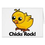 ¡Roca de los polluelos! Tarjetón