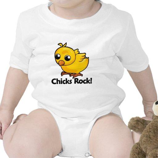 ¡Roca de los polluelos! Trajes De Bebé