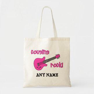 ¡Roca de los primos con la guitarra rosada Bolsa De Mano