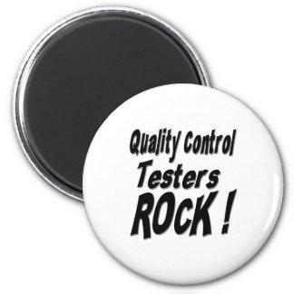 ¡Roca de los probadores del control de calidad! Im Imán De Nevera