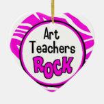 roca de los profesores de arte ornamento de navidad