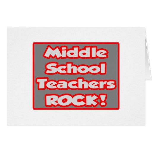 ¡Roca de los profesores de escuela secundaria! Tarjeta De Felicitación