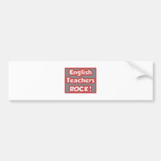 ¡Roca de los profesores de inglés! Pegatina Para Auto