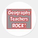 ¡Roca de los profesores de la geografía! Etiqueta