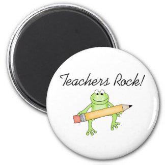 Roca de los profesores de la rana imán redondo 5 cm