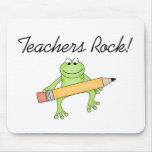 Roca de los profesores de la rana tapetes de ratón