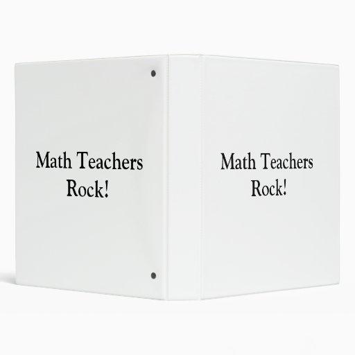 ¡Roca de los profesores de matemáticas!