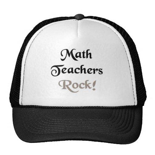 Roca de los profesores de matemáticas gorras de camionero