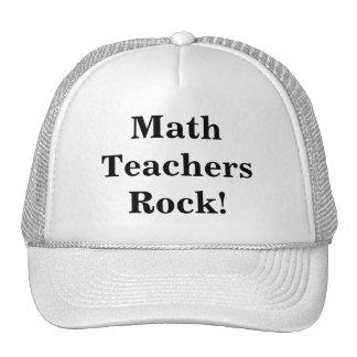 ¡Roca de los profesores de matemáticas! Gorros Bordados