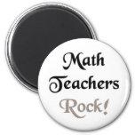 Roca de los profesores de matemáticas imán de frigorífico
