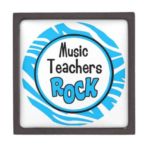 roca de los profesores de música cajas de regalo de calidad