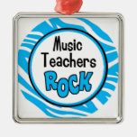 roca de los profesores de música ornamento de navidad
