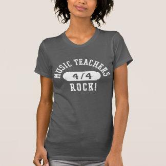 Roca de los profesores de música camisetas