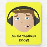 ¡Roca de los profesores de música! Alfombrilla De Raton