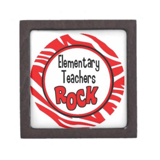 roca de los profesores elementales cajas de joyas de calidad