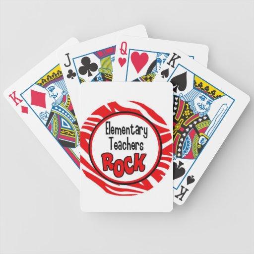 roca de los profesores elementales baraja de cartas